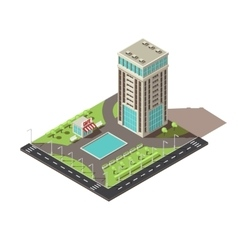 Isometric office building design vector