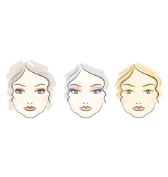 Make up scheme vector image