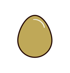 oval egg icon flat for web vector image vector image