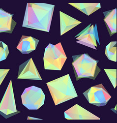 polygonal color glass transparent shapes vector image