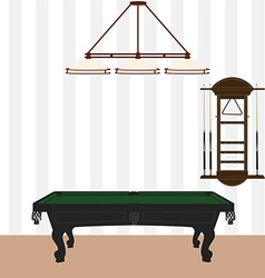 Pool billiard room vector