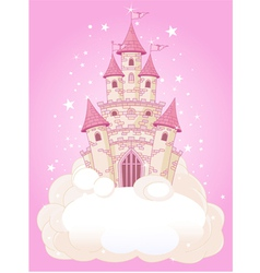 princess fairytail castle vector image