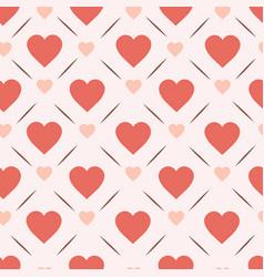 Retro hearts seamless pattern design vinatge vector