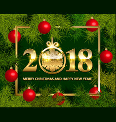 Shiny background with christmas decorations vector