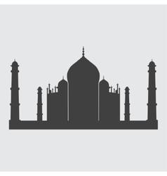 Taj Mahal icon vector image