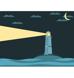 The lighthouse in the sea vector