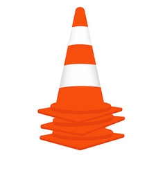 Traffic cones set vector image vector image