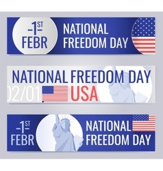 Web banners set for national freedom day usa vector