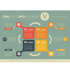 Web template of diagram or presentation business vector