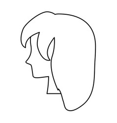 woman head silhouette vector image vector image