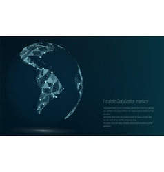 World map point south america vector