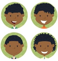 African american school boys avatar vector image