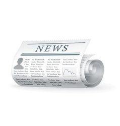 Newspaper rolled vector