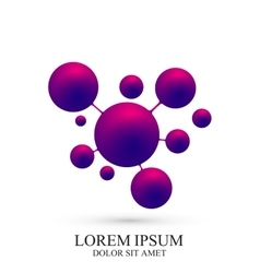 Modern logotype icon dna and molecule vector