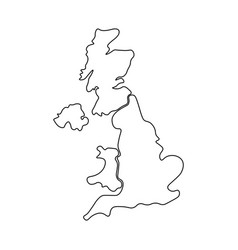 united kingdom aka uk of great britain and vector image