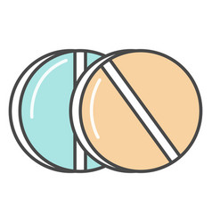 Medical pill linear icon vector