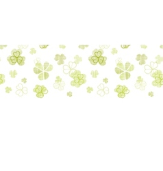 Clover textile textured line art horizontal vector