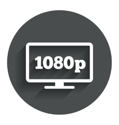 Full hd widescreen tv 1080p symbol vector