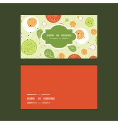 Fresh salad horizontal frame pattern business vector