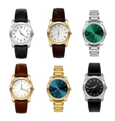Realistic watches set vector