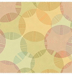 Abstract seamless background of rings vector image vector image