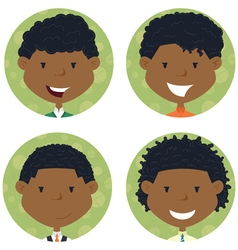 African american school boys avatar vector