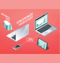business synchronization information vector image