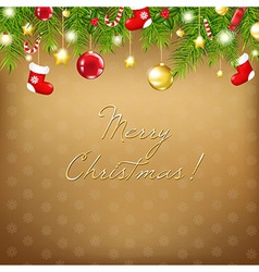 Christmas And Happy New Year Composition vector image vector image
