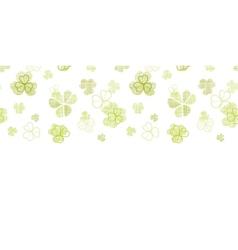 Clover textile textured line art horizontal vector