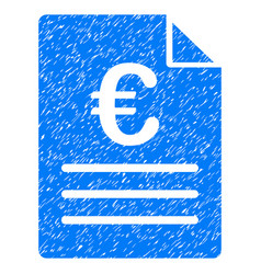 Euro document grunge icon vector