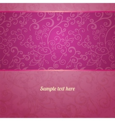 Excellent seamless floral pattern background vector image vector image