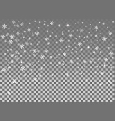 falling snow isolated on the a transparent vector image vector image