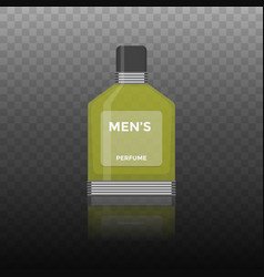 Flat icon of men perfume vector