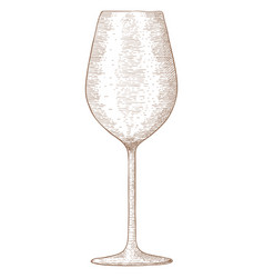 glass of wine hand drawn sketch vector image