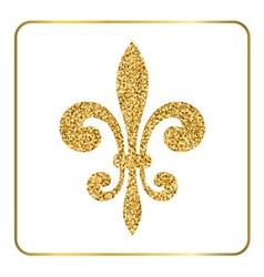 Golden fleur-de-lis heraldic emblem 3 vector