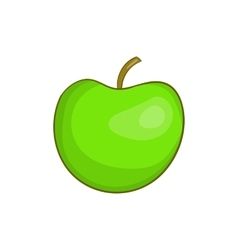 Green apple icon cartoon style vector image