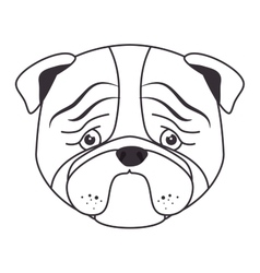 Hand draw sad face dog vector