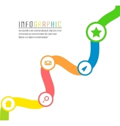 info graphic path with different colors and vector image vector image