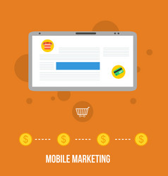 mobile marketing style flat design collection vector image vector image