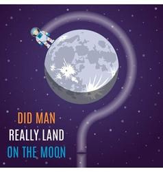 Moon Flat Design Concept vector image vector image
