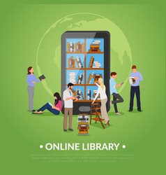 Online library vector