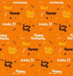 orange halloween seamless pattern vector image