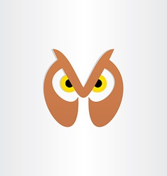 Owl head icon design vector
