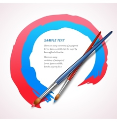 Paint brush background vector