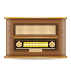 Radio old retro vintage icon stock vector
