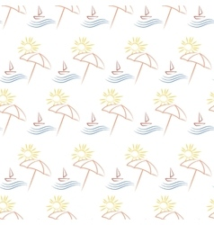 seamless with beach umbrella vector image vector image