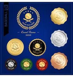 Set of baseball badge label or emblem for sport vector image vector image