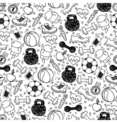 Sport white and black seamless pattern vector