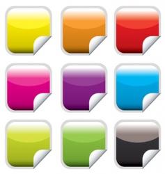 square web button bright vector image