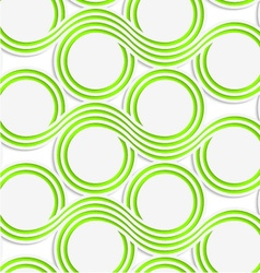 White colored paper green spools vector